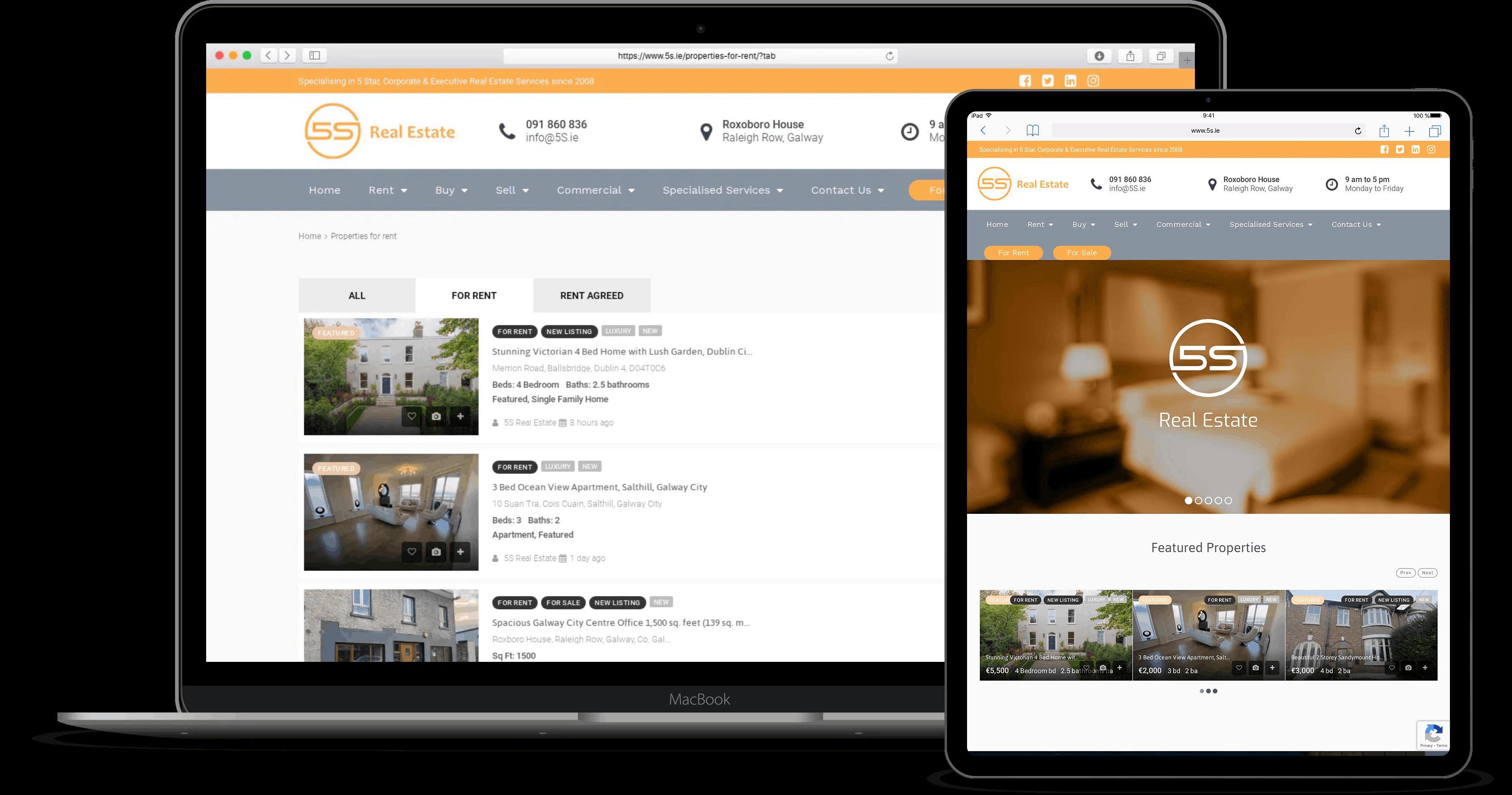 5S-real-estate web design galway