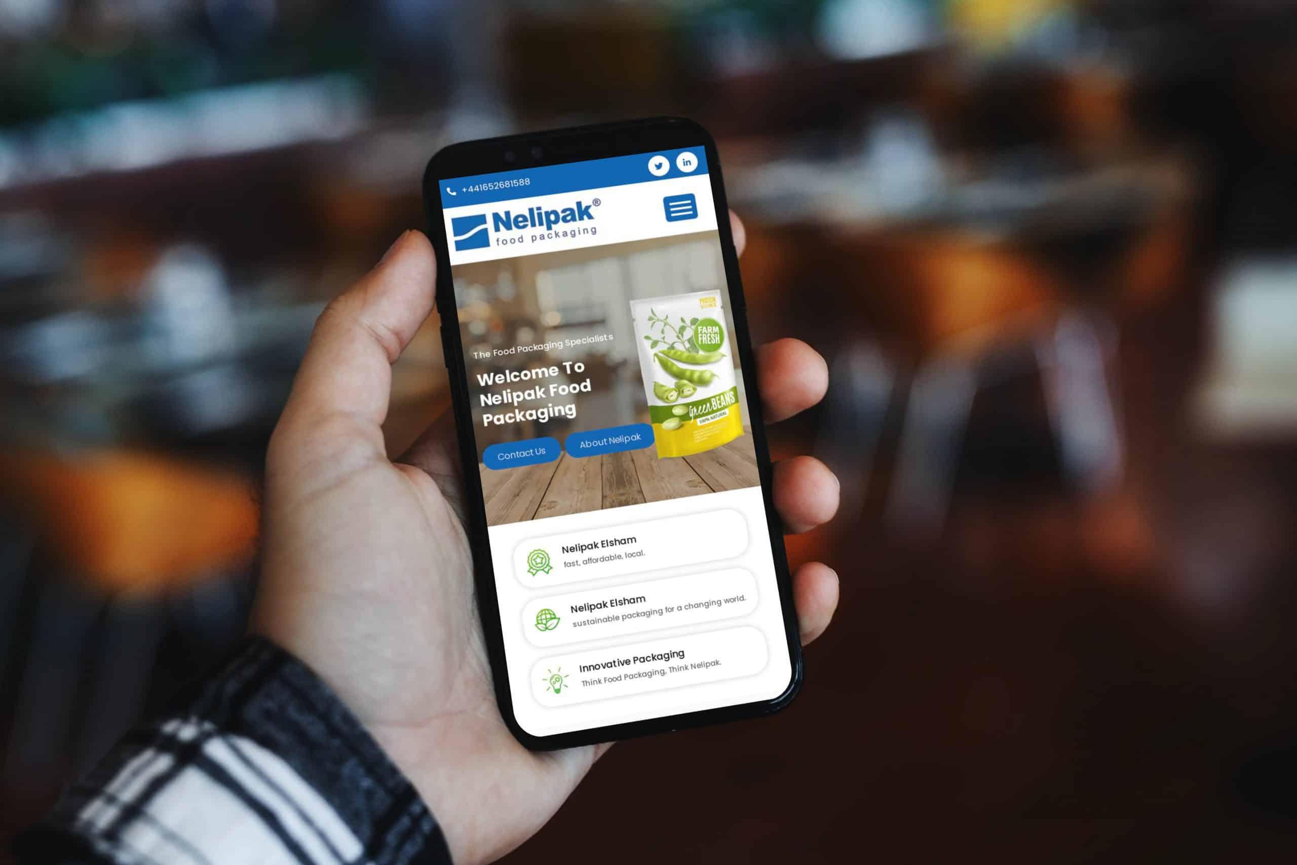 Nelipak Food Packaging website Design Ireland
