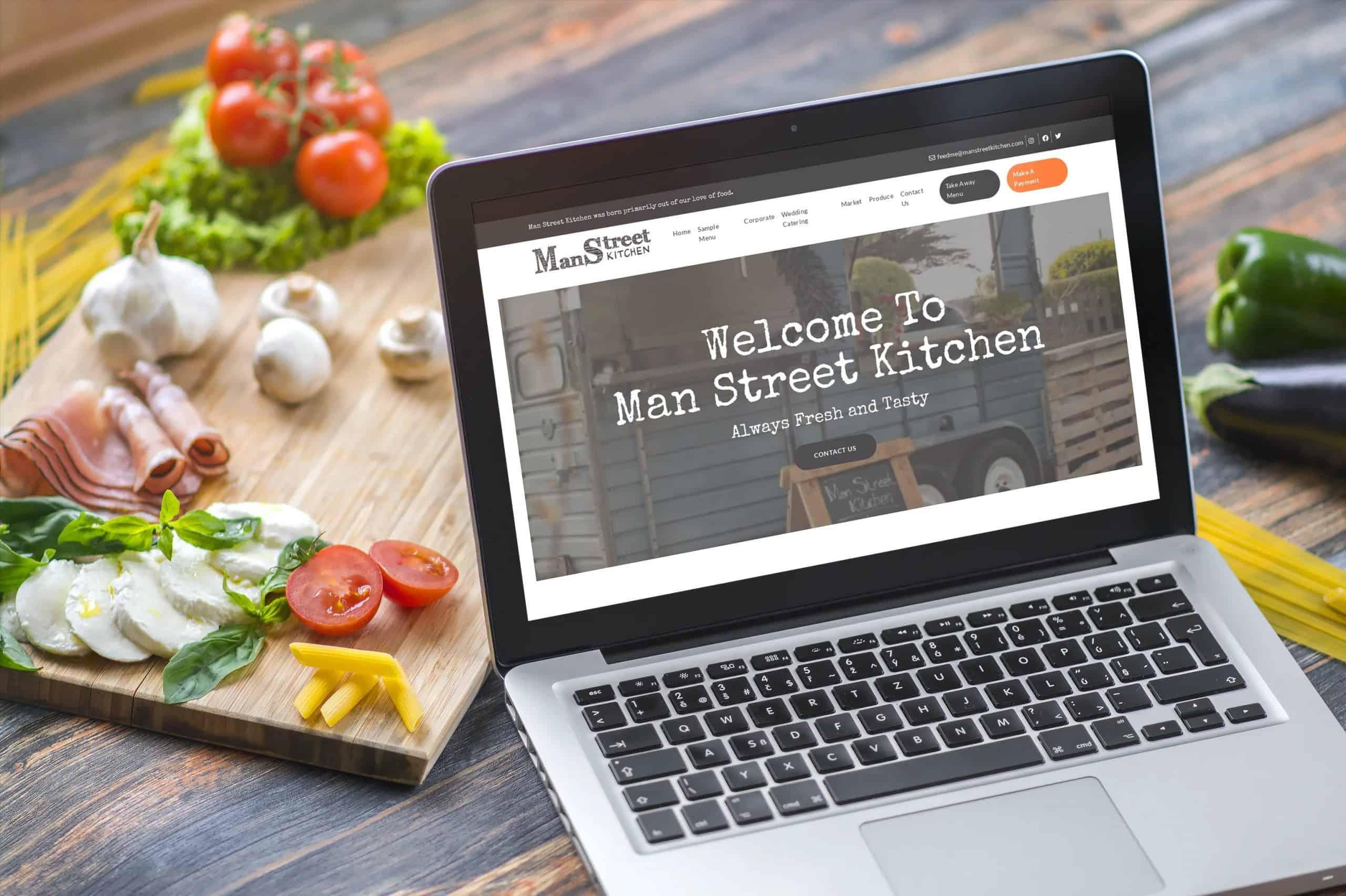 Man Street Kitchen website Design Galway
