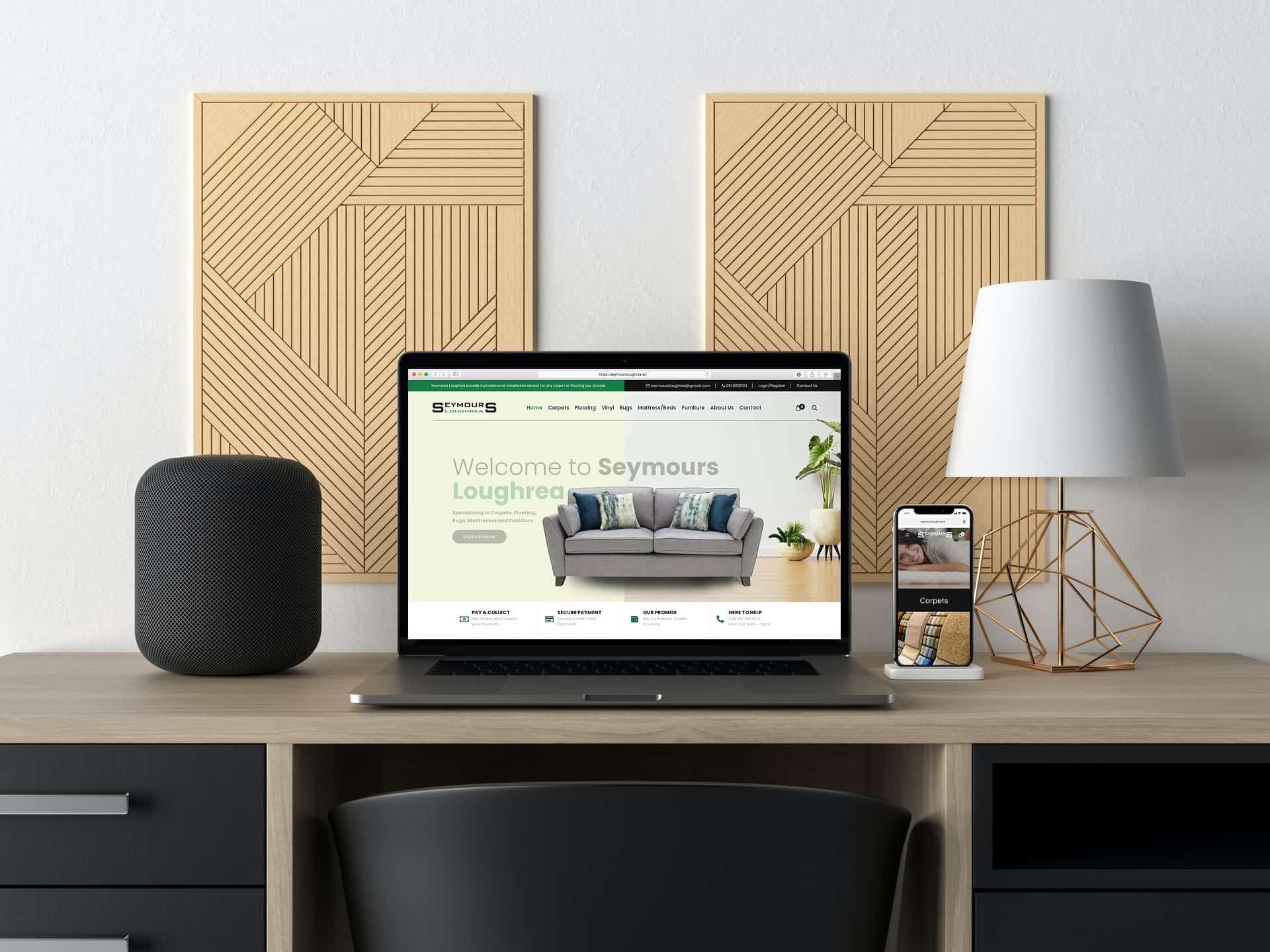 Web design Loughrea - Seymours Furniture